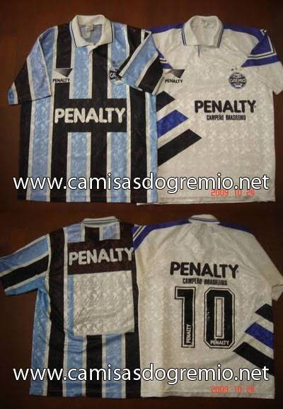 3500071cd9 Branca 1993 e Tricolor 1994 – Penalty – Camisas do Grêmio