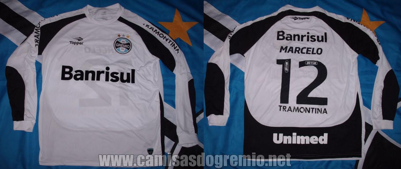 Camisa de Goleiro Branca 2011 – Topper – Camisas do Grêmio bfe67f7545f39